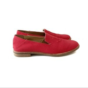 Sperry Red Seaport Levy Canvas Anchor Loafer